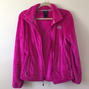 The North Face Pink Zip Up Sweater